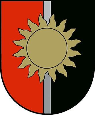Sun (heraldry) - Image: Escut Jekabpils rajonas