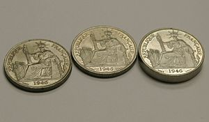 Pattern coin - Regular coin (left), pattern coin (center) and piedfort (right)