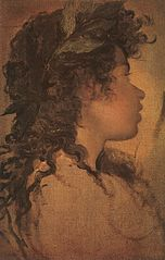 Study for the head of Apollo