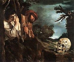 Guercino: Et in Arcadia ego