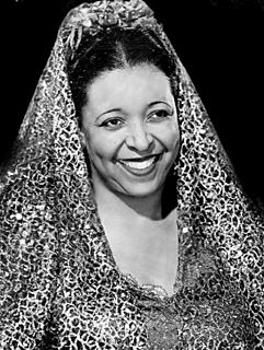 American blues, jazz and gospel vocalist and actress