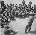 Ethiopian troops training in Korea. A class in military intelligence. As a rule, formal instruction is given by... - NARA - 541957.tif