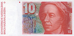 Early Modern Switzerland - Old Swiss 10 Franc Banknote honouring Leonhard Euler who developed many key concepts in mathematics, calculus, physics and engineering.