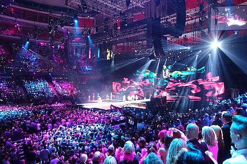 The Eurovision Song Contest, an example of a music competition Eurovision Song Contest Jury Final, 2016.jpg