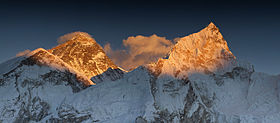 Everest Nuptse sunset panorama.jpg