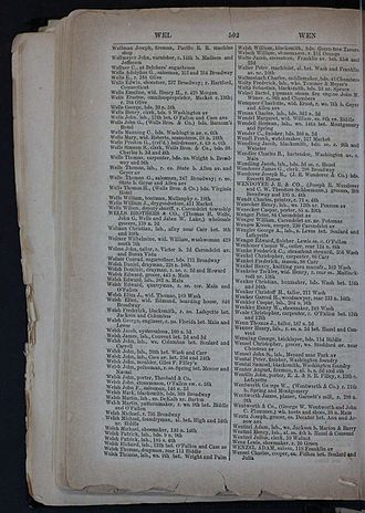 Erastus Wells - Erastus Wells listing in the 1859 St. Louis City Directory