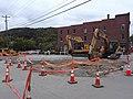 Excavators steam roller downtown Montpelier VT September 2018 2.jpg