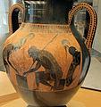 Exekias, anfora con achille e aiace che giocano a dai, castore e polluce, da vulci, 540-30 ac ca. 04.JPG