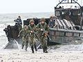 Exercitiu de debarcare a infanteristilor marini pe plaja de la Vadu.jpg