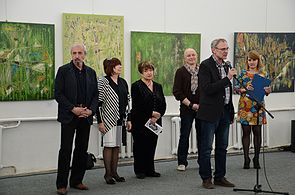 Exhibition TRANSCENSUM FortePROUN Palace of Art 30.04.2014 Minsk 01.JPG