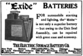 Exide advert in Horseless Age 1918-01-15 v43 p82.png