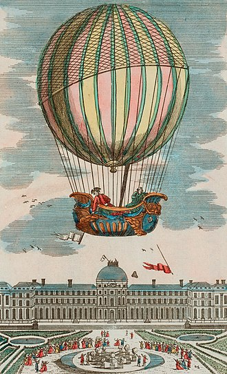 History of parks and gardens of Paris - The first flight of a hydrogen balloon took place from the Tuileries garden on December 1, 1783.