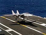 F-14A Tomcat of VF-84 landing on USS Abraham Lincoln (CVN-72) 1990.JPEG