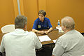 FEMA - 32228 - SBA worker talks to residents at an Ohio Disaster Recovery Center.jpg