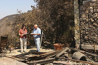 Basin Complex Fire - A house burnt down in the Basin Fire, 2008