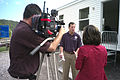 FEMA - 41485 - West Virginia FCO talks to media about temporary housing..jpg
