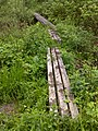 FLT M17 11.4 mi - Bridges, 3 4x4's, RR tie sills, 8', 4', and 12' long over old beaver dam E of Hill Rd, 4' and 3' to drainage - panoramio.jpg
