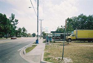 Florida State Road 45 - SR 45 in Tampa, south of SR 574. Taken on April 8, 2006.