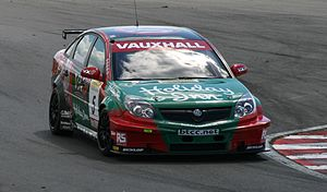 Fabrizio Giovanardi - Giovanardi driving the VX Racing-run Vauxhall Vectra during the Snetterton round of the 2007 BTCC season.