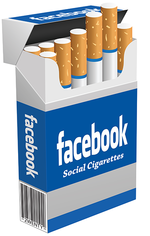 Facebook Cigarettes poster by 2wenty