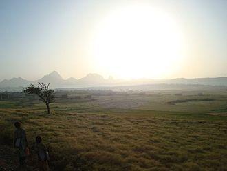 Adwa - Farmland between Axum and Adigrat, along the national road