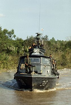 Fast Patrol Craft PCF-38 on Cai Ngay canal 1970