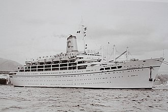 SS SeaBreeze - SeaBreeze as Federico C in Genova, Italy during sea trials in 1958.