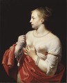 Female Figure, possibly Lucretia (Cesar Boetius van Everdingen) - Nationalmuseum - 18797.tif