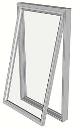 Fen tre wikip dia for Operable awning windows