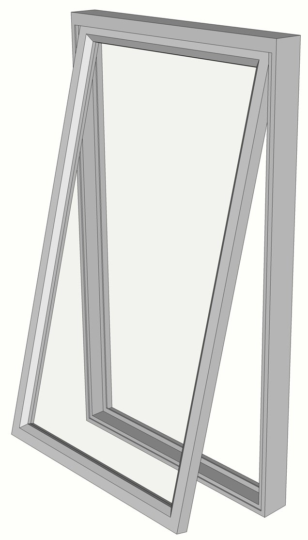 Fen%C3%AAtre %C3%A0 l%27australienne - Awning window - (AWS Magnum 616) Light