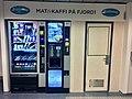 Ferdamat snacks and coffee vending machines in Fanafjord ferry, Hordaland, Norway, 2018-03-05 IMG 5587.jpg