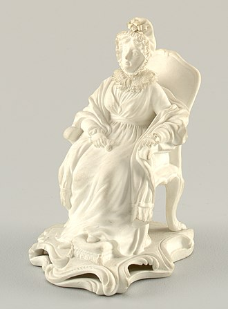 Hannah More - Biscuit porcelain figure by Mintons, 1830s