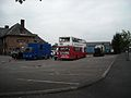 Film crew canteen bus in Manchester MCW Metrobus D714 NKY ex Yorkshire Traction.jpg