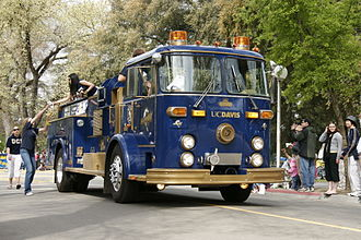 University of California, Davis Fire Department - Former UC Davis Fire engine. Presently used by the Aggie Pack booster club as a promotional vehicle.