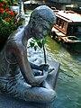 Fishing at Singapore River (2004) by Chern Lian Shan, The Riverwalk, Singapore - 20070324.jpg