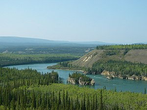 Klondike Highway - Five Finger Rapids seen from Klondike Highway