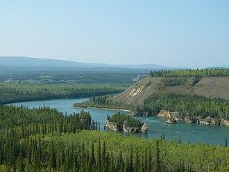 Klondike Highway - Five Finger Rapids seen from Klondike Highway