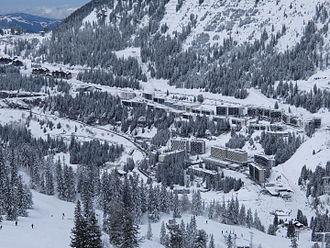Flaine - Flaine Ski Resort's main buildings.