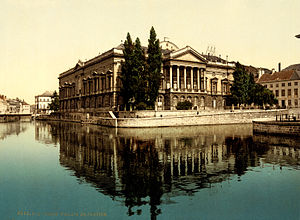 Ghent - The Justitiepaleis in Ghent, c. 1895