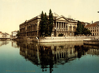 Ghent - The Palace of Justice in Ghent, c. 1895