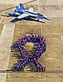 Flickr - Official U.S. Navy Imagery - Sailors stand in a purple ribbon formation..jpg
