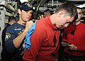 Flickr - Official U.S. Navy Imagery - UFC fighter Rich Franklin, left, signs autographs..jpg