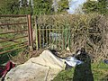 Fly tipping by the gate - geograph.org.uk - 1729709.jpg