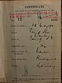 Fong She Auckland Chinese poll tax certificate butts Certificate issued at Auckland.jpg