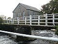 Footbridge and chapel, by the Eastern Cleddau river - geograph.org.uk - 1001239.jpg