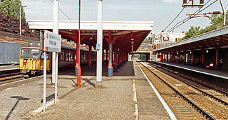 Forest Gate railway station - View of the station platforms in 1991
