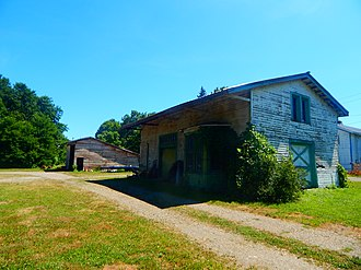 Forestville, New York - The former Erie Railroad station in Forestville, seen in August 2015.
