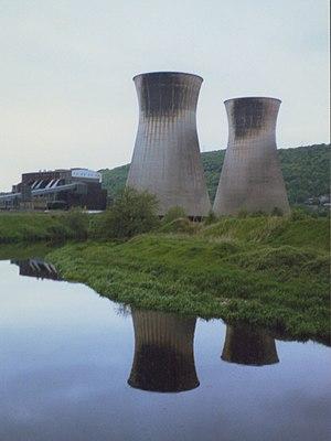 Elland - Elland Power Station in 1991