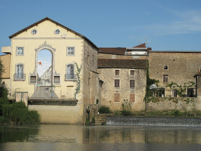 Former watermills in Pont-de-Vaux (Ain, France).