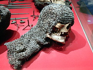 Battle of Visby - The skull of a soldier who participated in the 1361 campaign.